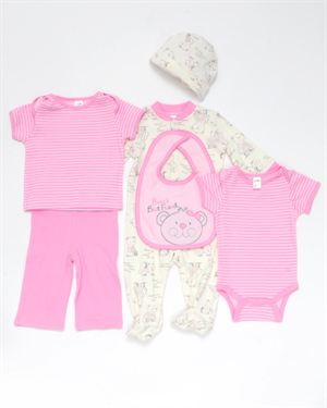 Baby Gear Bear's Best Friend Girl's 6-Piece Set