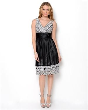 R&M Richards Lace Trim Party Dress
