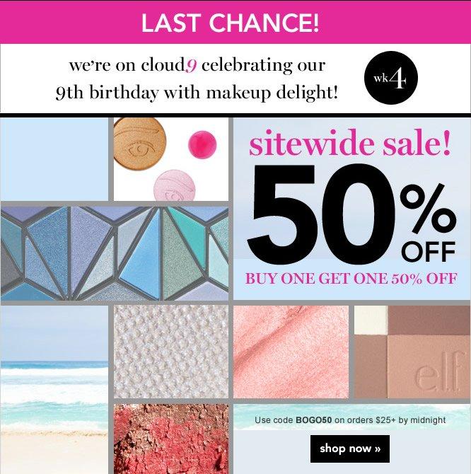 sitewide sale! 50% off BOGO. Code: BOGO50 - shop now