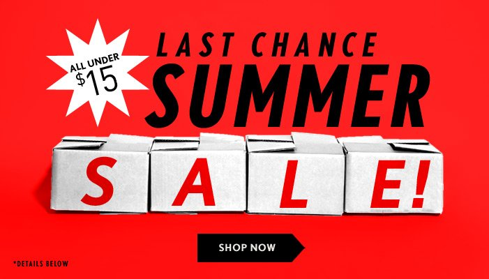 Summer Sale Now On! - Shop Now