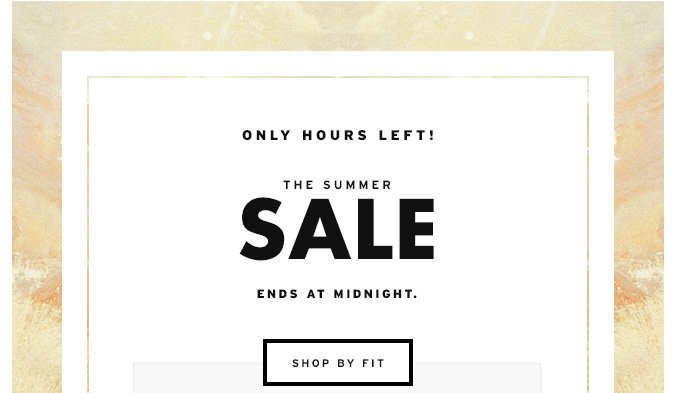 The Summer Sale Ends at Midnight.