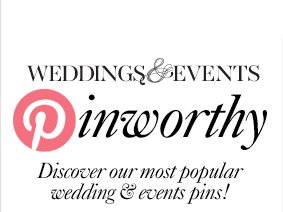 WEDDINGS & EVENTS Pinworthy  Discover our most popular wedding & event pins!
