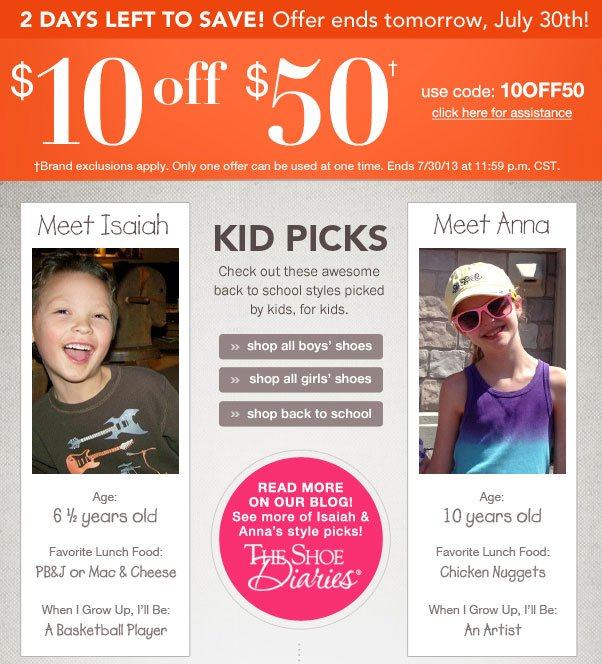 $10 Off $50 - Ends Soon!