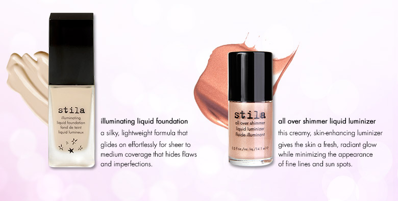 illuminating liquid foundation and all over shimmer liquid luminizer