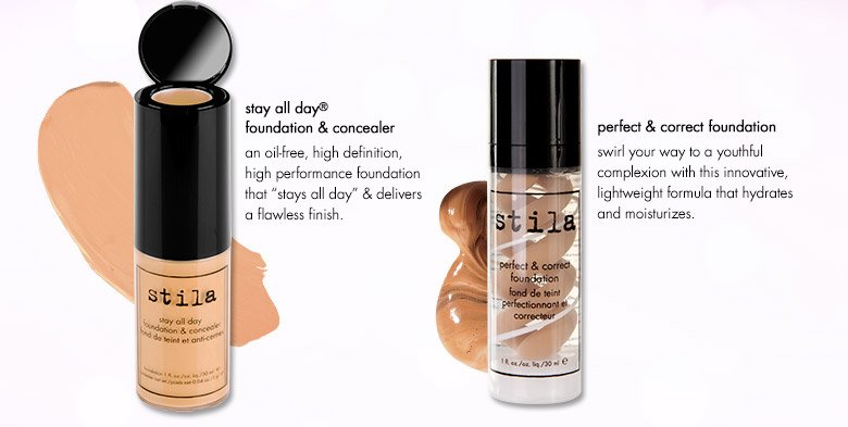 stay all day foundation & concealer and perfect & correct foundation