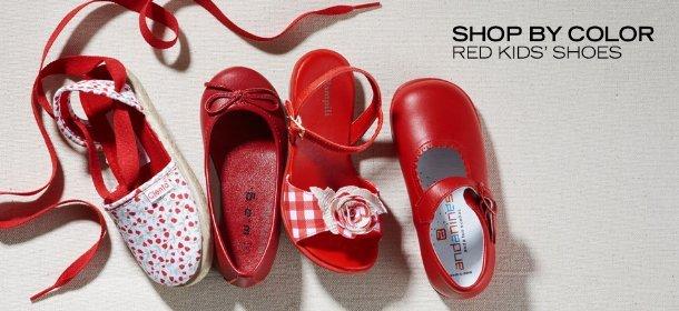 SHOP BY COLOR: RED KIDS' SHOES, Event Ends August 2, 9:00 AM PT >