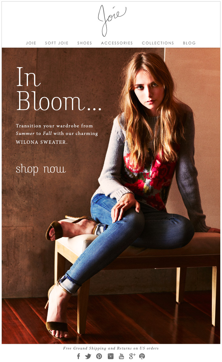 In Bloom... Transition your wardrobe from Summer to Fall with our charming WILONA SWEATER