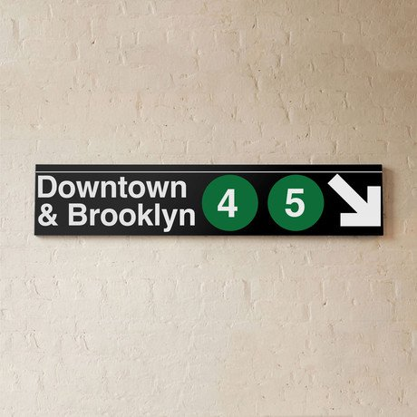 Downtown & Brooklyn (4/5) Green Lines