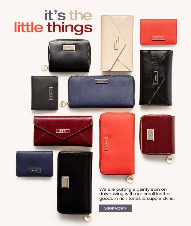 SHOP SMALL LEATHER GOODS