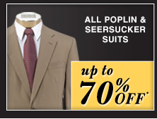 up to 70% OFF* - Poplin & Seersucker Suits
