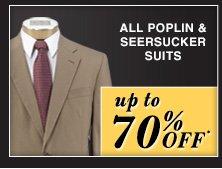 up to 70% OFF* - Poplin & Seersucker Suits