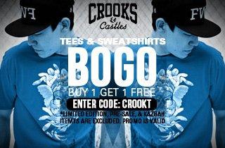 Tees & Sweatshirts: Buy 1, Get 1 Free