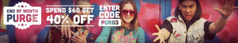 Click to shop the End of Month Purge: Get an Extra 40% Off Your Order of $60 with code PURG3.