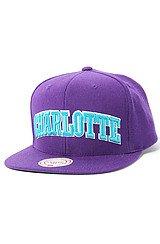 Charlotte Hornets HWC Wool Solid Snapback Cap in Purple