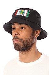 Crossing Boarders Bucket Hat in Black
