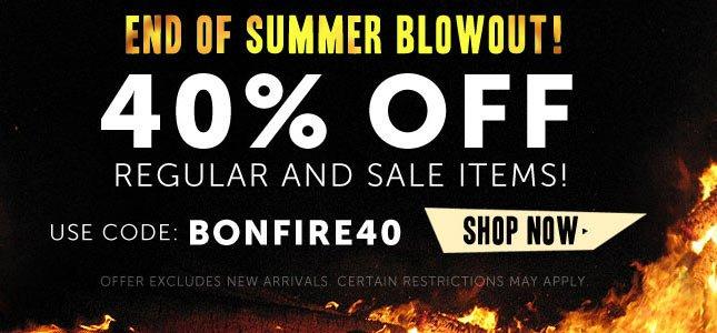Use Code bonfire40