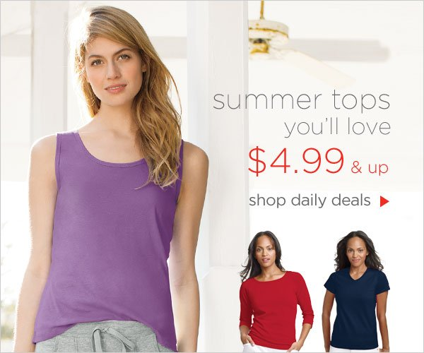 $4.99 & up daily deals on summer tops