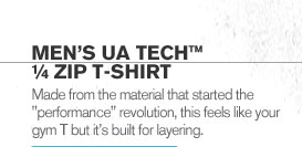MENS UA TECH(TM) 1/4 ZIP T-SHIRT