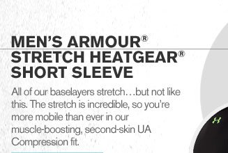 MENS ARMOUR(R) STRETCH HEATGEAR(R) SHORT SLEEVE
