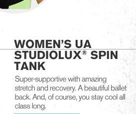 WOMENS UA STUDIOLUX(R) SPIN TANK