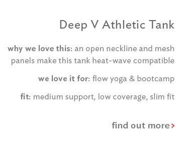 Deep V Athletic Tank