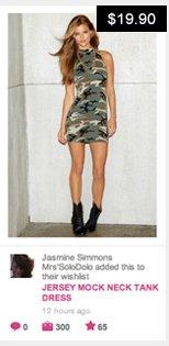 Jersey mock neck tank dress