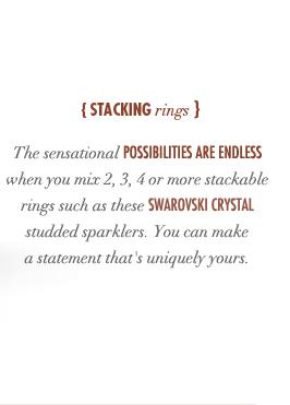 Crystal Palace Stacking Rings