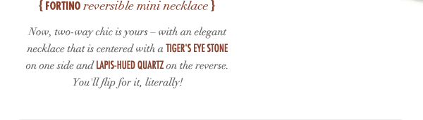 Fortino Reversible Mini Necklace
