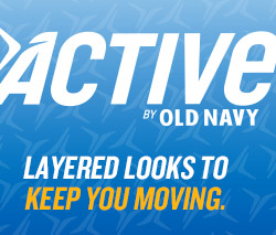 ACTIVE BY OLD NAVY | LAYERED LOOKS TO KEEP YOU MOVING.