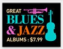 Great Jazz & Blues Albums: $7.99