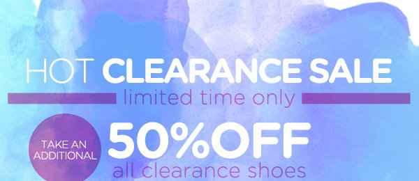Hot Clearance Sale! Take an Additional 50% OFF!