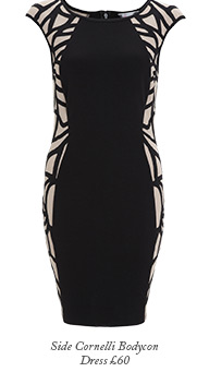 Side Cornelli Bodycon Dress