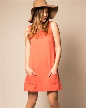 My Little Poesy Solid Color Loose Sleeveless Dress