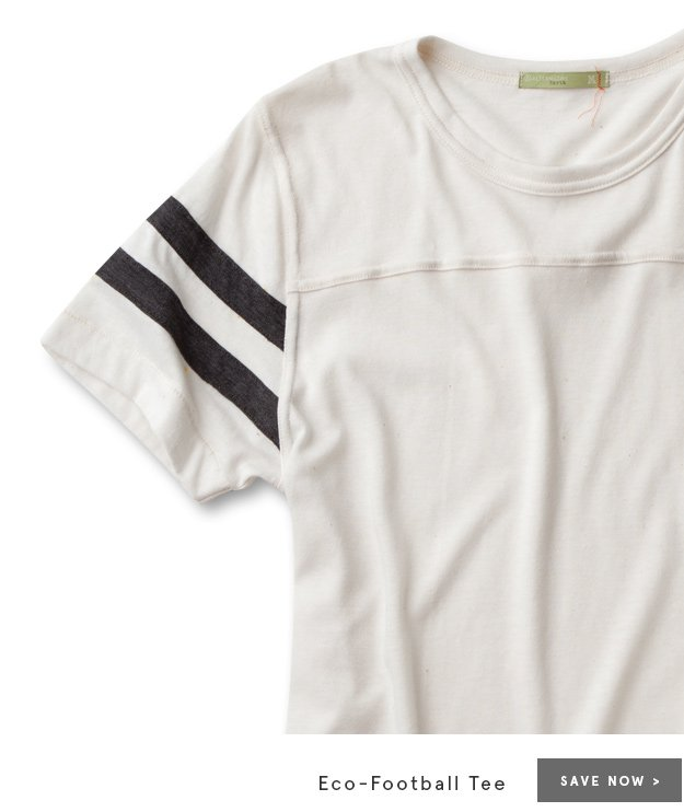 Save Now - Eco-Football Tee