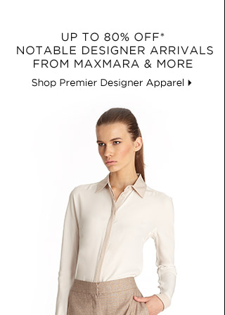 Up To 80% Off* Notable Designer Arrivals From Maxmara & More