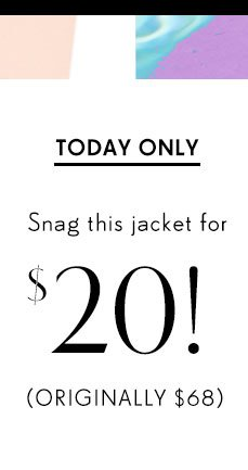 Snag this jacket for $20!