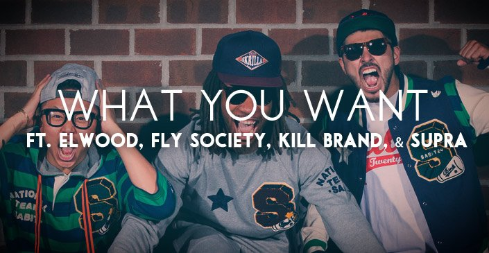 What You Want: Kill Brand, Elwood, Fly Society, Supra. Click to shop.