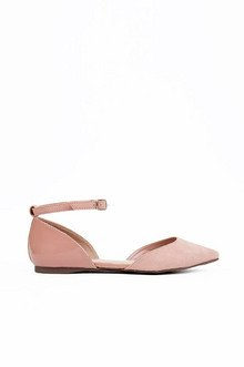 D'ORSAY ANKLE STRAP FLATS 25