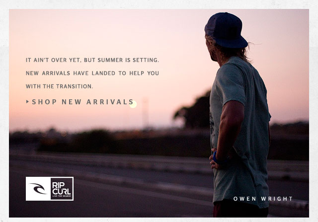 It ain't over yet, but summer is setting. New arrivals have landed to help you with the transition. - Shop New Arrivals