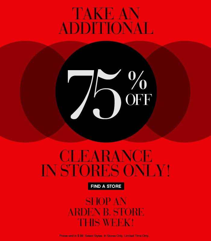 Take an additional 75% off