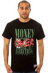 Money Over Camo Tee in Black