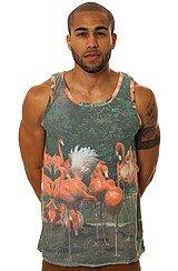 Flamingos Chillin Tank