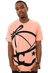 The Big Face Jack Tee in Coral Almond