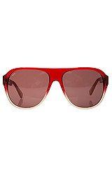 The Hibachi Sunglasses in Red Cream & Brown