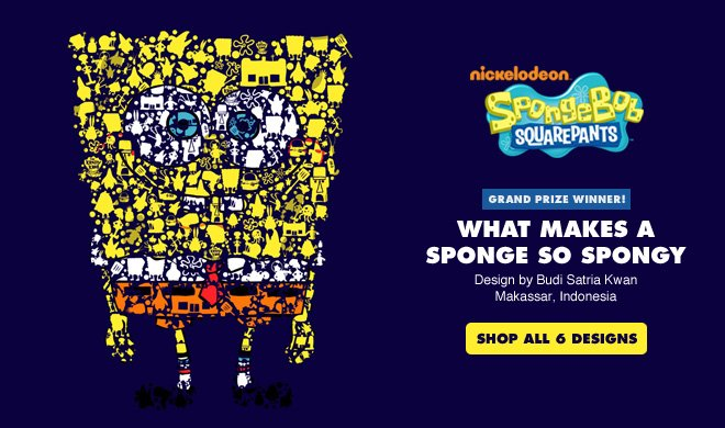 What Makes a Sponge So Spongy - Design by Budi Satria Kwan / Makassar, Indonesia - Shop all 6 designs