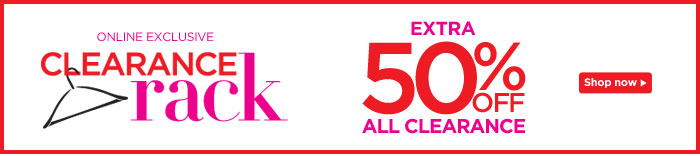 Clearance Rack: Extra 50% Off All Clearance