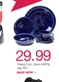29.99 Fiesta 5-pc. place setting reg. $51. SHOP NOW