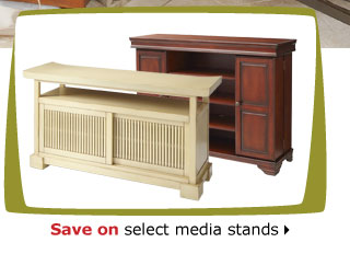 Save on select media stands