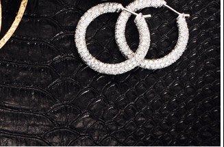 11.2 Ct Diamond and 18k White Gold Hoop Earrings