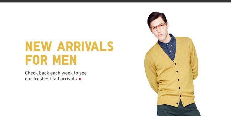 NEW ARRIVALS MEN